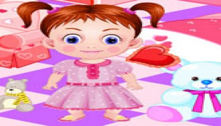 Baby emma room decoration play dora girl games for Baby room decoration games online